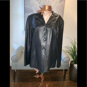 REMY Leather Jacket/Blazer size M in Black